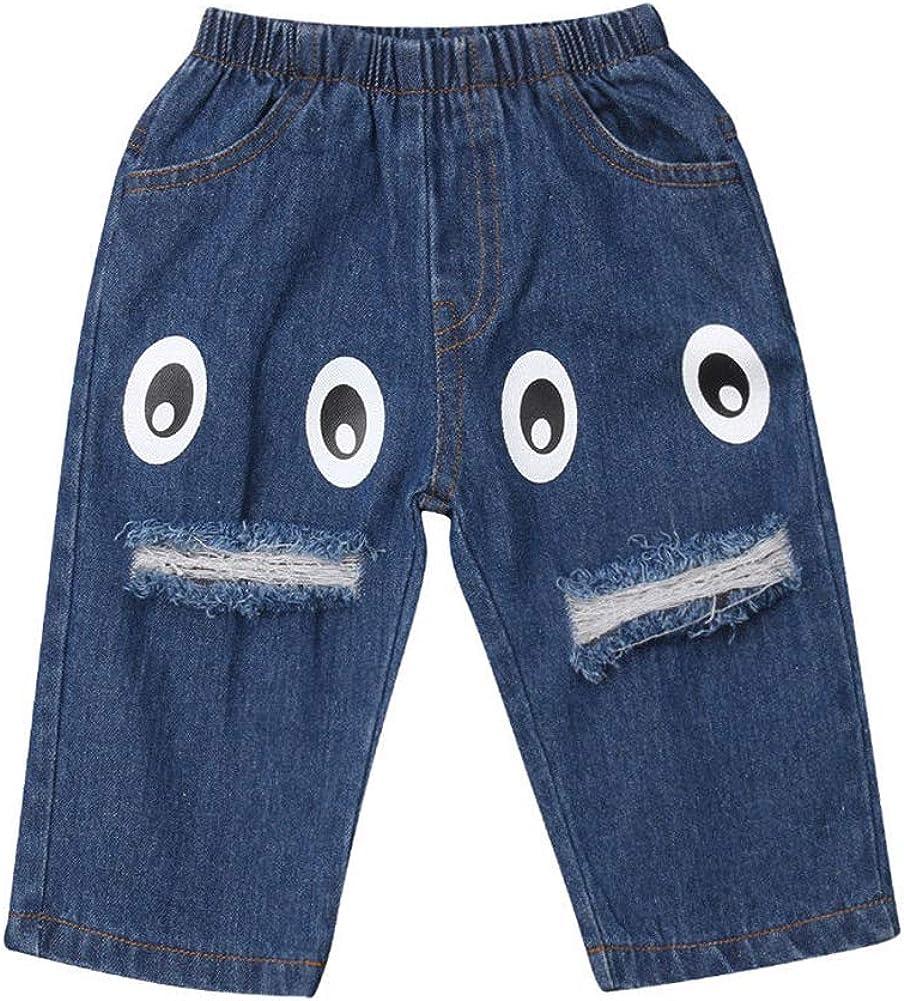 ONE'S Toddler Baby Kid Boys Virginia Beach Mall Girls Denim Bottom Sales results No. 1 Ripped Print Eyes
