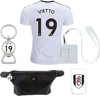 PreLEA Fulham F.C. #19 Vietto 2018/2019 Home Mens Soccer Jersey Color White (Large)