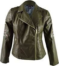 INC International Concepts Women's Embroidered Moto Jacket