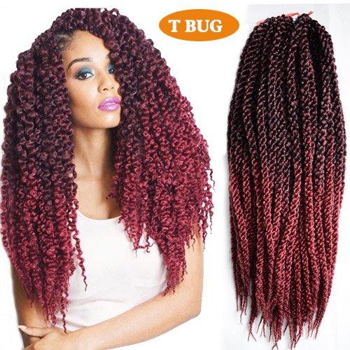 3D Cubic Twist Crochet Zöpfe Haar Afrikanische schwarze (E)