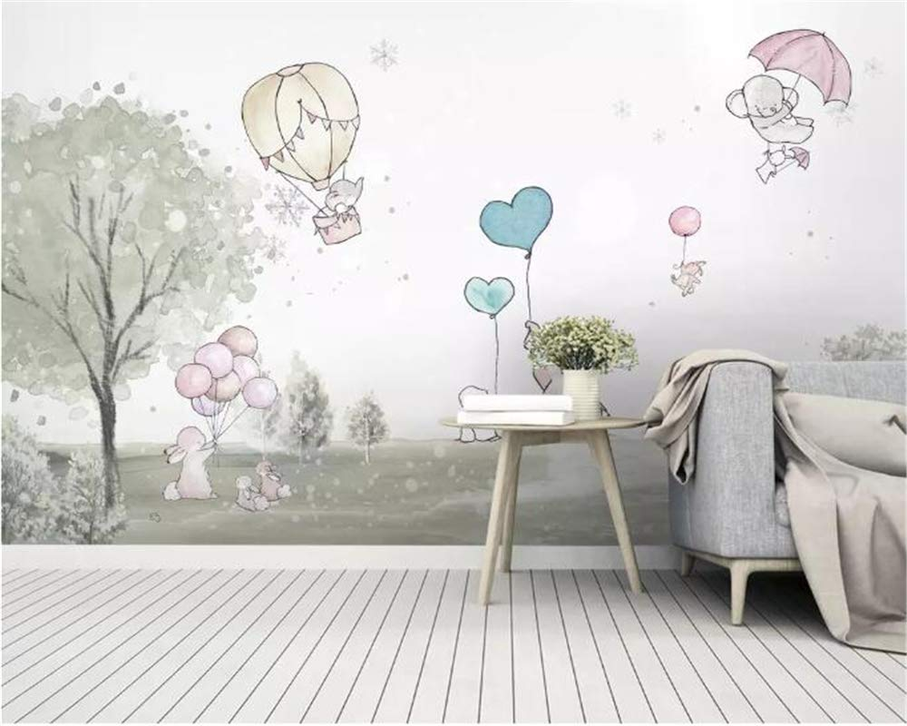 Custom Mural Cute Direct store Cartoon Balloon Bear Animal Room Child quality assurance Bac Cub
