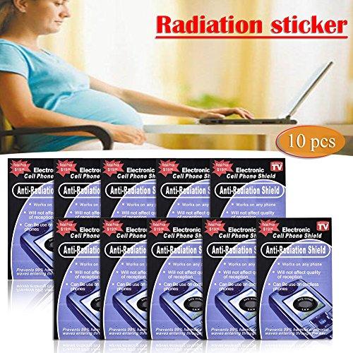 10 unidades de protección contra la radiación Emf Shield anti radiación pegatina para todos los dispositivos Emf, Wifi, iPad,...