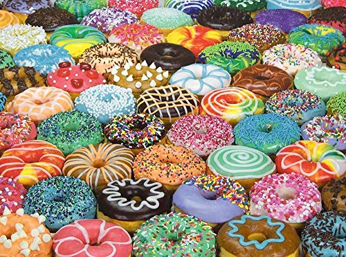 WMYZSHDWZ 1000 Piece Picture Puzzle Difficult Donut Puzzles Challenging Adult and Children Puzzle Games for Modern Home Wall Decorations