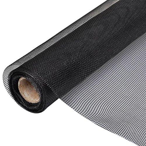 vidaXL Toile Moustiquaire de Porte/Fenêtre Fibre de Verre 100x500 cm Noir