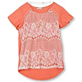 Speechless Big Girls 7-16 Lace Front T-Shirt, Coral Ivory, L