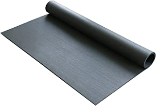 "Rubber-Cal Anti-Vibration Washing Machine Mat - 3/8"" x 4ft Wide x 5ft Long - Black Rubber Floor Protector"