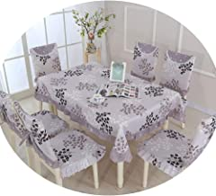 NDJqer 1 Piece Table Cloth for Kitchen Dining Wedding Embroidered Tablecloth Pastoral Style Print Table Cover Just Ask About 130X180Cm