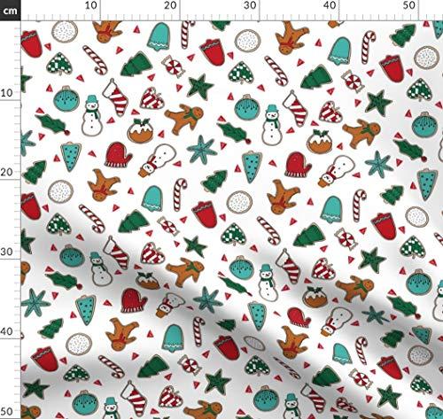 Andrea Lauren, Weihnachten, Weihnachtsstoff, Keks Stoffe - Individuell Bedruckt von Spoonflower - Design von Andrea Lauren Gedruckt auf Bio Baumwoll Interlock-Jersey