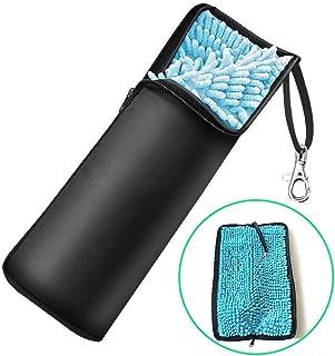 折り畳み傘カバー 超吸水 傘ケース 2面吸水 梅雨対策 折り畳み傘袋 マイクロファイバー 軽量 携帯便利 32cm以内傘入れ可能 ブラック
