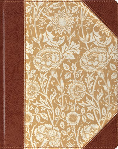 ESV Single Column Journaling Bible (Cloth Over Board, Antique Floral Design)