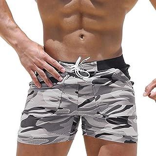 comprar comparacion Luckycat bañador Trajes de baño de Camouflage de Hombres de natación Pantalones Cortos para Tabla Bermuda de Surf de Playa...