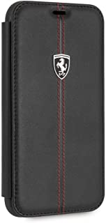 CG Mobile Ferrari iPhone Xr Case Bookstyle Cell Phone Case Genuine Leather   Easily Accessible Ports   Officially Licensed...