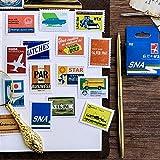 BLOUR Set de Sellos de Viaje Vintage Sticker Photo Album Scrapbook Decor Paper Sticker DIY Handmade Gift Cards Stickers Arts Craft 45pcs / Box