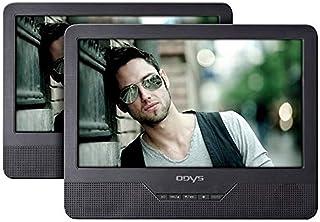 Odys Seal 9 tragbarer DVD Player (mit zusätzlichem, drehbarem Bildschirm, 23 cm (9 Zoll), hochauflösendes digitales TFT Display (800x480 Pixel), USB, SD Card), Autopaket, Fernbedienung, schwarz