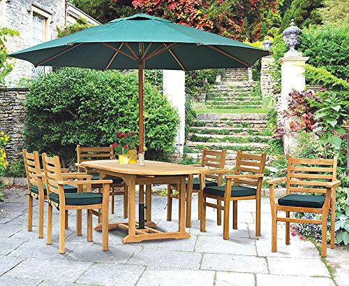 Jati Yale 6 Seater Teak Garden Dining Set