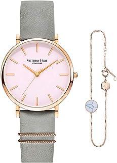 VICTORIA HYDE Watch Bracelet Set for Women Analog Quartz Ladies Wristwatch Adjustable Bracelet