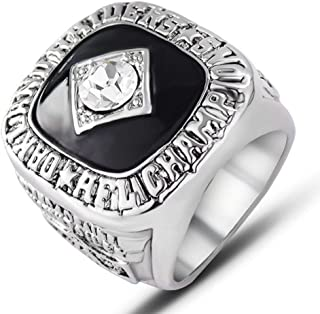 AJZYX Oakland Raiders Championship Rings Super Bowl XI 1976 Replica Collectible Ring Souvenir for Fans Size 9-12