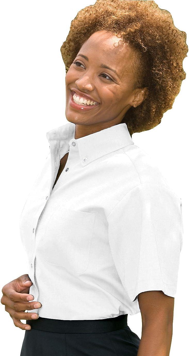 Edwards Ladies' Short Sleeve Oxford Shirt