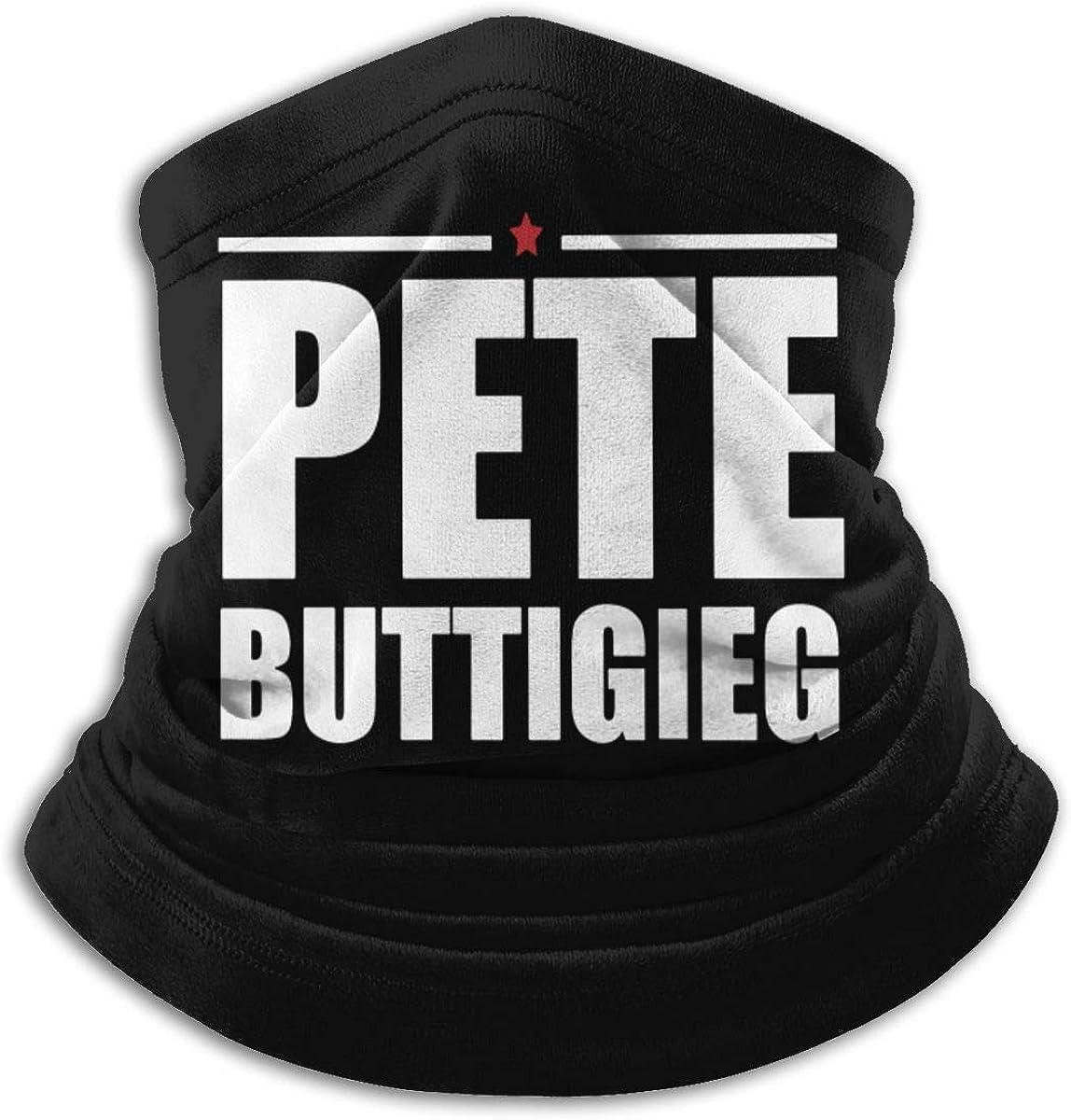 Pete Buttigieg 2020 Black Multi-function Neck Warmer Gaiter Polyester Neck Warmer Windproof Winter Neck Gaiter Cold Weather Scarf For Men Women