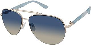 يو.اس. بولو اسن . نظارة شمسية نسائية PA5030 بتصميم افياتور معدنية شبه بدون إطار مع حماية 100% من الأشعة فوق البنفسجية، 60 ملم