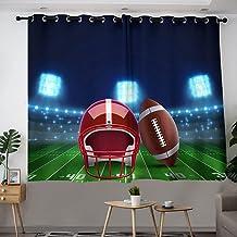 Voetbal Americano en Stadion Grommet Woonkamer Gordijnpanelen Door Raamgordijn Grommet Panelen voor Slaapkamer Woonkamer W...