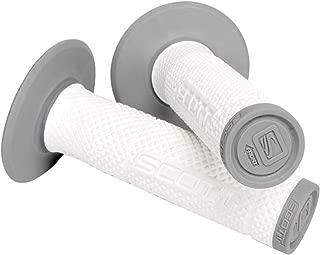 White Gray Scott Sx 2 Handlebar Hand Grips and Free Sticker Fits Honda Cr80 Cr85 Cr125 Cr250 Cr500 Crf250 Crf450 Crf150 Crf230 Crf100 Crf80 Crf70 Xr80 Xr100 Xr200 Xr250 Xr400 Xr600 Xr650 1981-2014