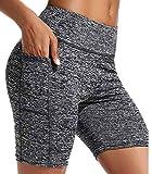 FITTOO Pantalones Cortos Clásico Leggings Mujer Mallas Yoga Alta Cintura Elásticos Transpirables #3 Gris S