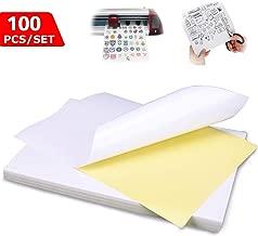 und Laserpapier 100 A4-Blatt 16 Aufkleber 105 x 33,8 mm Aufkleber Etikettendrucker f/ür Tintenstrahl