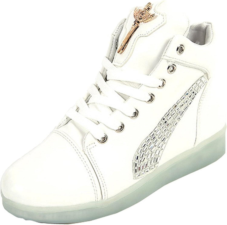 Uerescha Men Women Trainers USB Rechargeable Sneakers 7 colors shoes