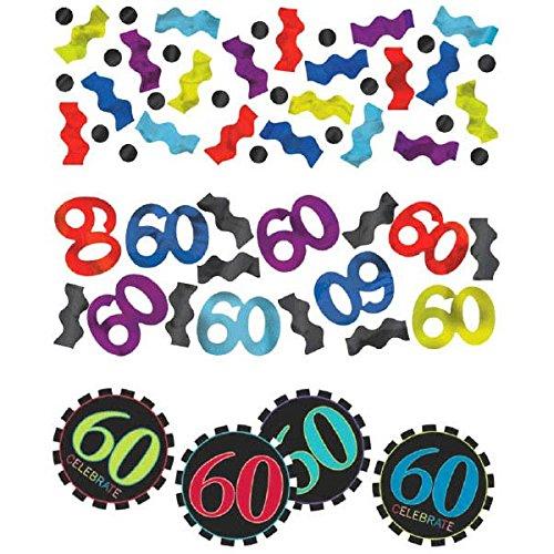 60e verjaardag 3 pak gemengde confetti