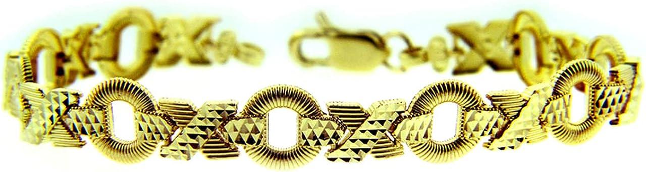 YELLOW GOLD BRACELET - XOXO Gold 10K Bracel Purity:: 100% quality warranty! Ranking TOP14