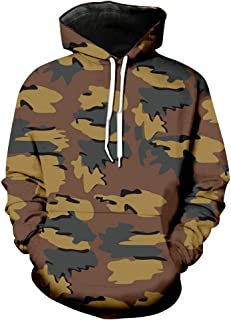 Mens Fashion 3D Sports Jacket Long Sleeve Camouflage Hooded Coat Hoodie Blouse Tops