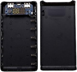 siwetg dubbel USB-utgång 6 x 18650 batteri DIY Power Bank Box Holder fodral för mobiltelefon surfplatta PC