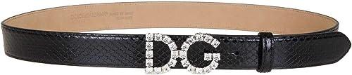 Dolce & gabbana luxury fashion,cintura per donna,in pelle al 100 % e inserti 100% cristallo BE1311AU92380999