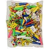 48 Partytröten Luftrüssel, farbig gemischt, Partyspass Scherzartikel Party Tröte Tröten Zubehör Spaß, 1097