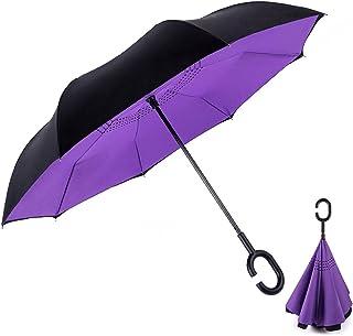 Double Layer Inverted Umbrella Anti-UV Windproof Straight Umbrella Outdoor Use