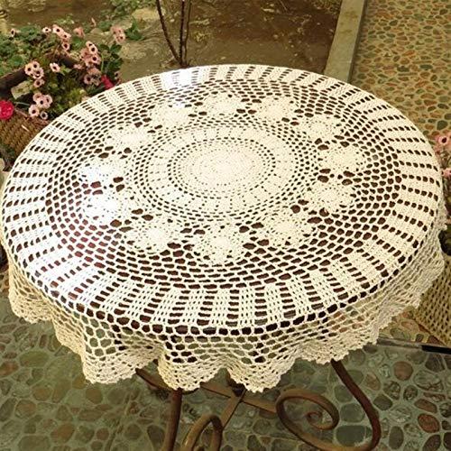 LDGF Manteles Rectangulares/Oblongos Hecho A Mano De Crochet Flores...