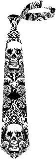 Men's Textile Neckties Set Animal Sloth Skull Unicorn Silk Ties Blue Black White
