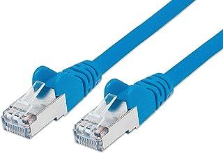 PremiumCord Netzwerkkabel, Ethernet, LAN & Patch Kabel CAT6a, 10Gbit/s, S/FTP PIMF Schirmung, AWG 26/7, 100% Cu, schnell flexibel und robust RJ45 kabel, blau, 1m