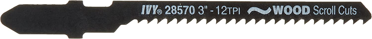IVY Max 40% OFF Classic 28570 3-Inch Surprise price 12 TPI T-Shank Blade Fine Jig Wood Saw