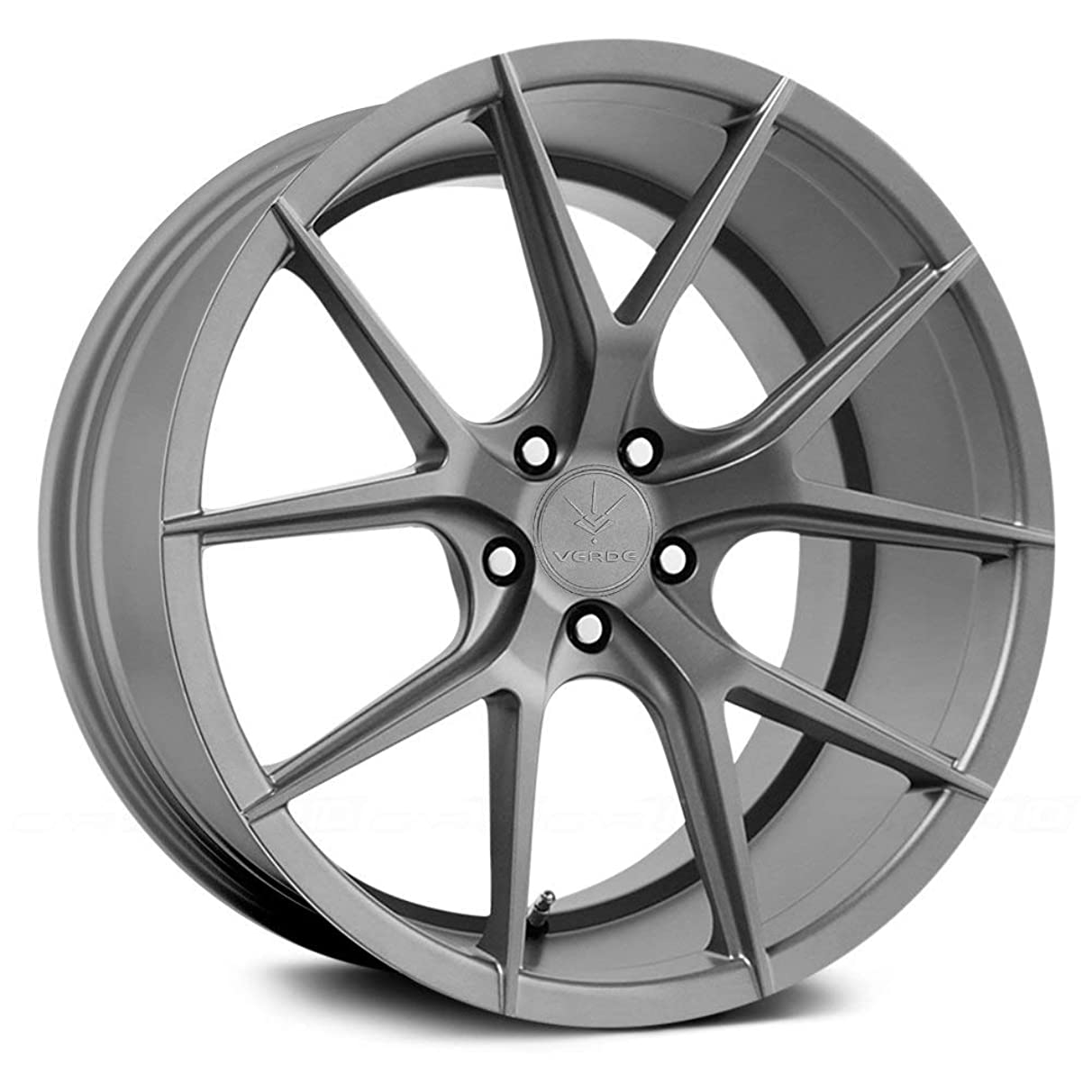 Verde Custom Wheels Axis Matte Graphite Wheel with Painted Finish (19 x 9.5 inches /5 x 4 mm, 20 mm Offset)