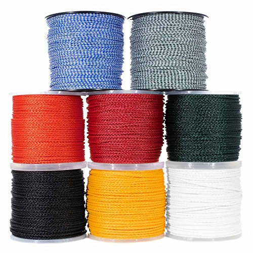 Goberg Hollow Braid Polypropylene Rope - Barrier Rope - Hydrophobic - Moisture & Chemical Resistant - Golf Courses, Trail Marking, Crowd Control - (50 Feet, 3/8 Inch, Black)