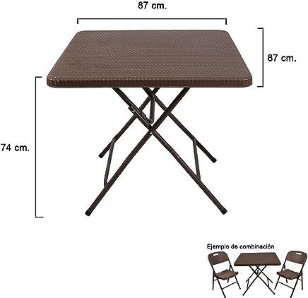 Amazon.es: mesas de jardín - Resina / Muebles: Hogar y cocina