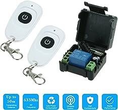 OWSOO 433 MHz DC12V 1CH RF draadloze afstandsbediening schakelaar + 1 stuk RF 433 MHz zender afstandsbedieningen voor huis...