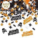 Kesote Konfetti Halloween Streudeko Party Glitter Tisch Deko Geist Spinne Kürbis Schädel Fledermaus (100g, ca. 5000 pcs)