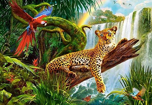 Puzzel Voor Volwassenen 1500 Stukjes, Leopard Jungle Dier Rusten, 1500/1000/500 Stukjes, Brain Challenge Jigsaw Puzzle Games