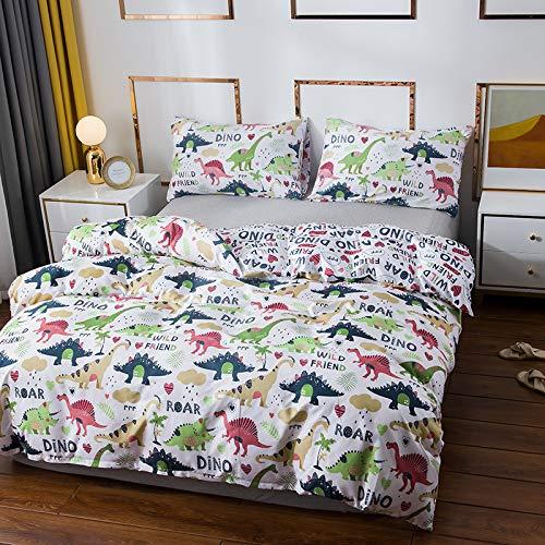 JKHG Juego de ropa de cama de 3 piezas con 1 funda nórdica y 2 fundas de almohada (doble, DKL)
