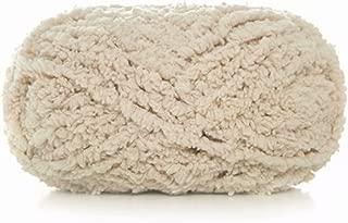 Celine lin One Skein Super Soft Warm Coral Fleece Knitting Yarn Fluffy Fuzzy Yarn Baby Blanket Yarn-Machine/Hand Wash & Dry,50g Cream