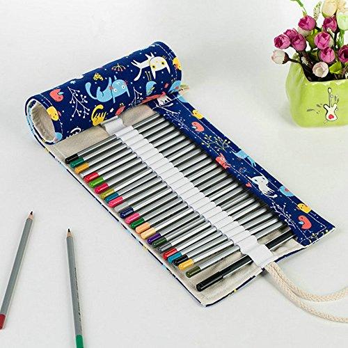 Haosen 72 colori Sacchetto della matita Hand-creativo Cassa di matita della Alta capacità - Arte disegno, colorato confezioni matita (Gattino)
