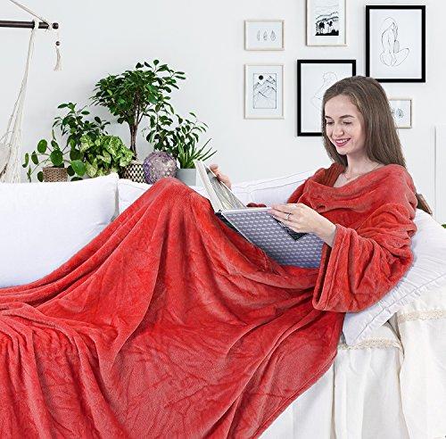 Batamanta Forro polar 150 x 180 cm, Suave y mullida, Roja